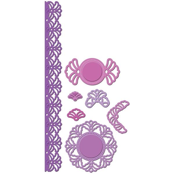 Spellbinders Shapeabilities Dies-Vintage Lace Accents