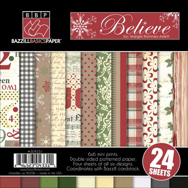 """Believe Multi-Pack Paper 6""""X6"""" 24/Sheets-6 Double-Sided Designs/4 Each"""