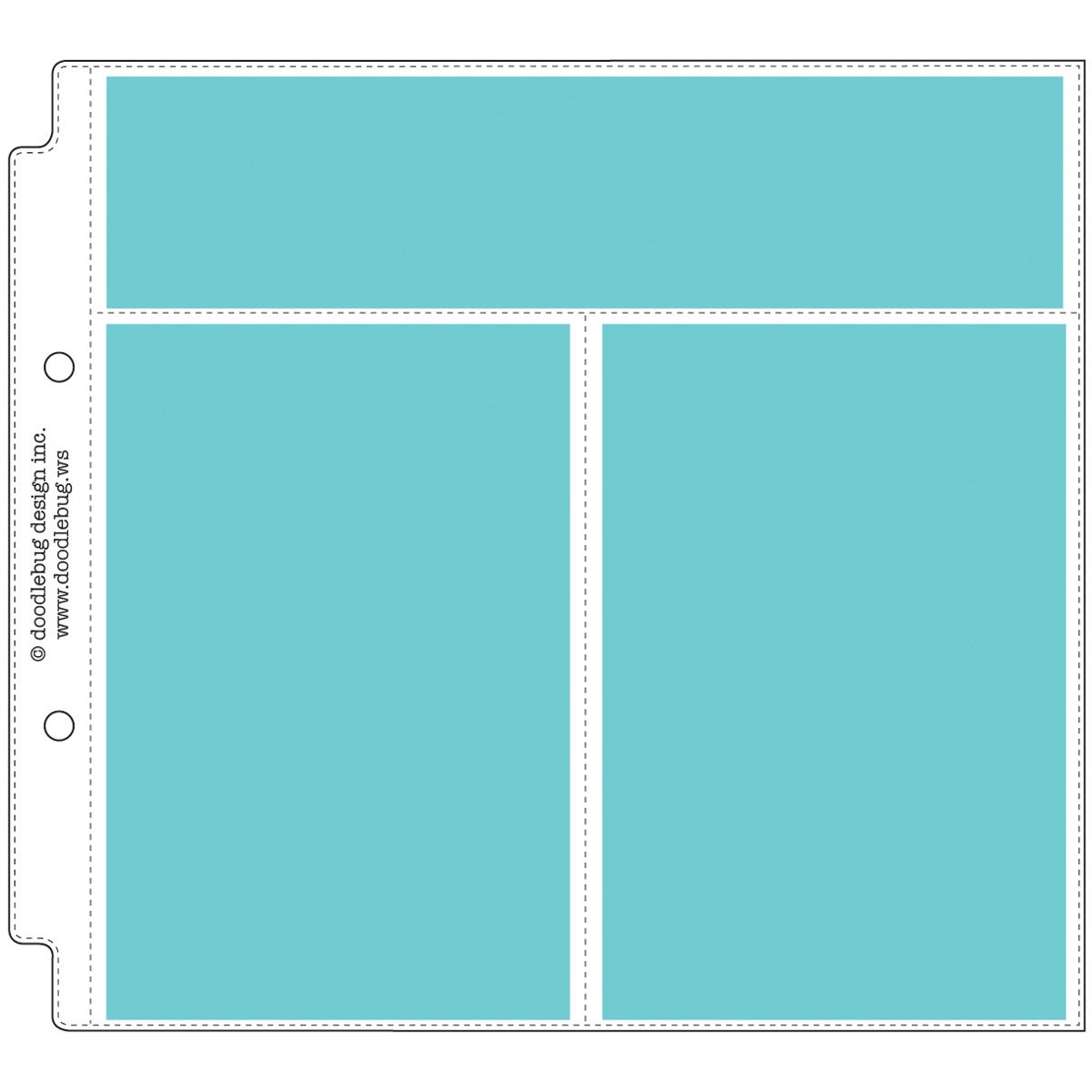 "Doodlebug Photo/Recipe Card Protectors 8""X8""-Vertical (Ve..."