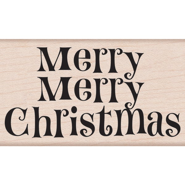 "Hero Arts Mounted Rubber Stamps 2.25""X3.25""-Merry Merry Christmas"