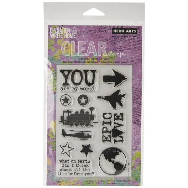 """Hero Arts Clear Stamps 4""""x6"""" Sheet-Epic Love"""
