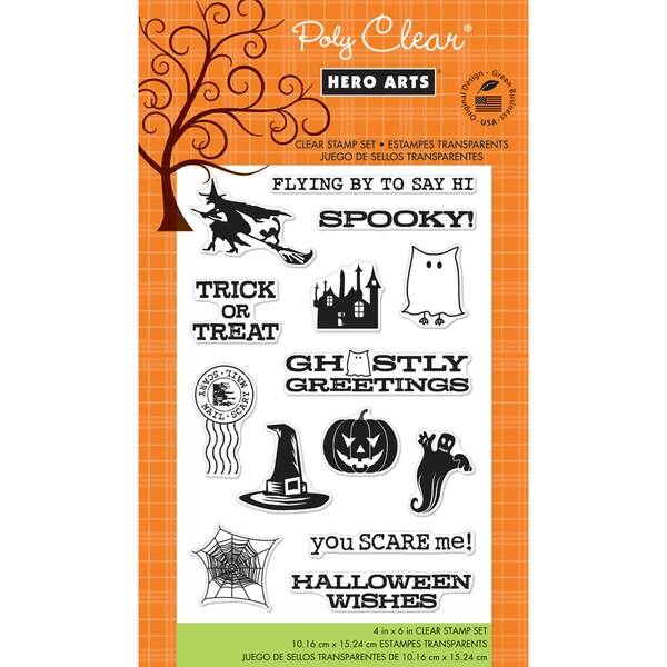 Hero Arts Clear Stamps 4x6 Sheet-Ghostly Greetings