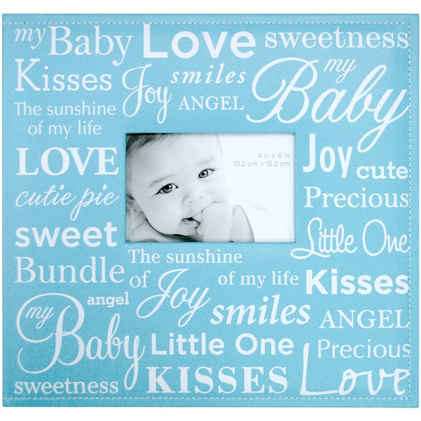 "Baby Expression Post Bound Album 12""X12""-Blue"