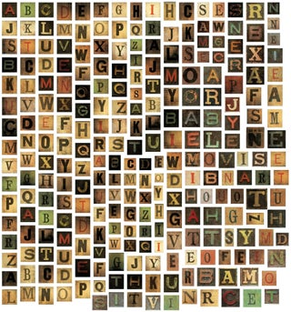 "Tim Holtz Idea-Ology Alpha Tiles Chipboard Letters .6875"" 255/Pkg-"