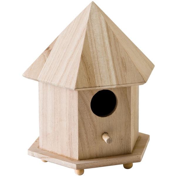 "Wood Gazebo Birdhouse 6-3/4""X9""X5-3/4""-"