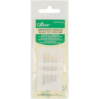 Blunt Tip Embroidery Needles-8/Pkg
