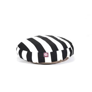 Majestic Pet Black Vertical Strip Round Pet Bed