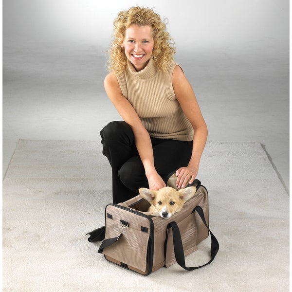 Casual Canine Tan Pet Duffle Bag