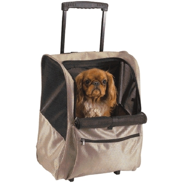 Casual Canine Black Deluxe Backpack On Wheels