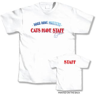 'Dogs Have Masters. Cats Have Staff' Cat Lover's T-Shirt