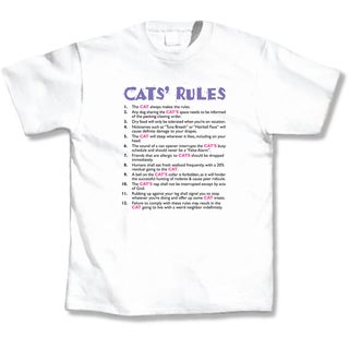 'Cat's Rules' Cat Lover's T-Shirt