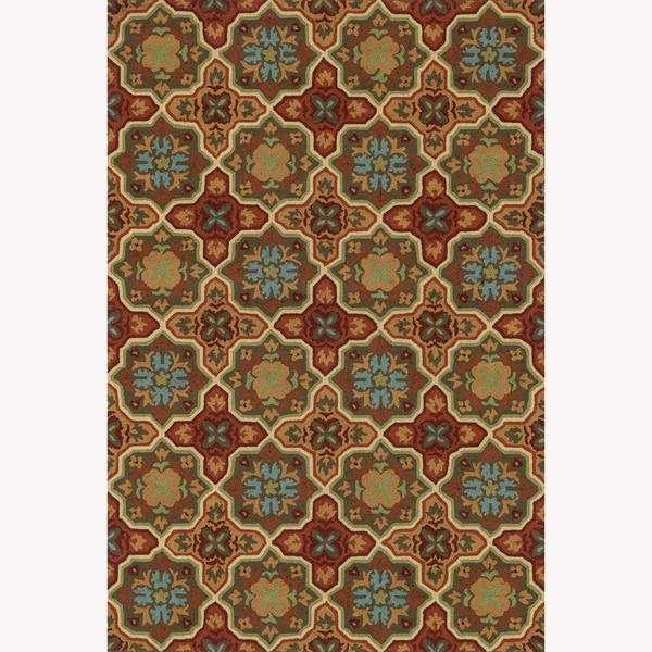 Hand-hooked Charlotte Spice Rug (7'6 x 9'6)