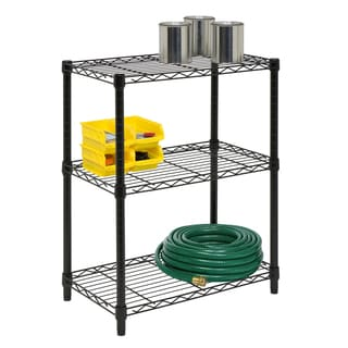 Honey Can Do 3-tier Black Shelving Unit
