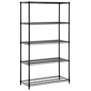 Honey Can Do Industrial 5-tier Black Storage Shelves