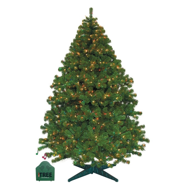 Alaskan Fir 7.5-foot Music N Motion Tree