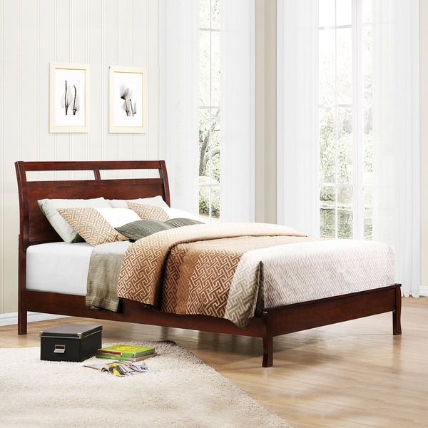 TRIBECCA HOME Filton Cherry Contemporary Queen-size Bed