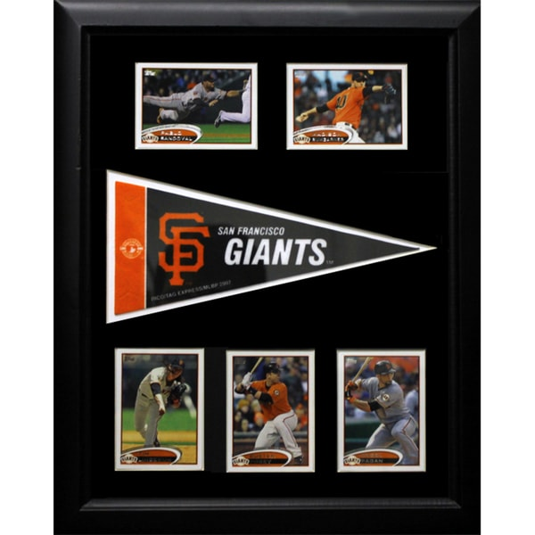 San Francisco Giants Pennant Frame with 5 Cards (12x18)