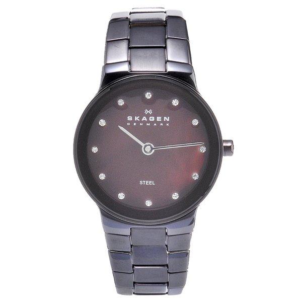 Skagen Women's Brown Stainless Steel Crystal Watch