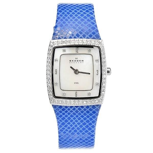 Skagen Women's 384XSSLN Blue Stainless-Steel Crystal Watch