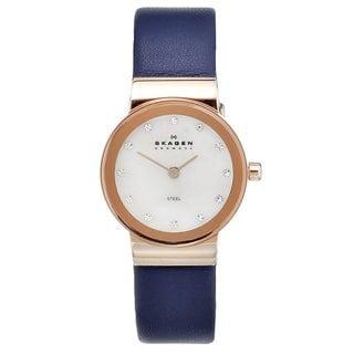 Skagen Women's Rose-goldtone Steel Crystal Watch