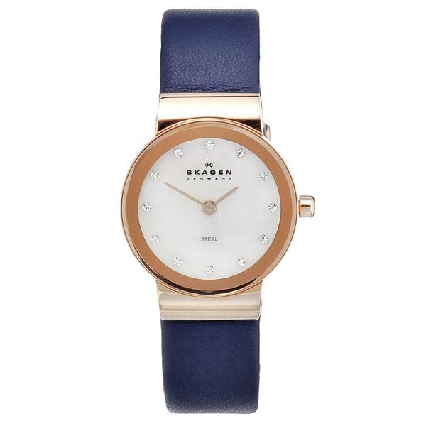 Skagen Women's Rose-goldtone Steel Crystal Watch