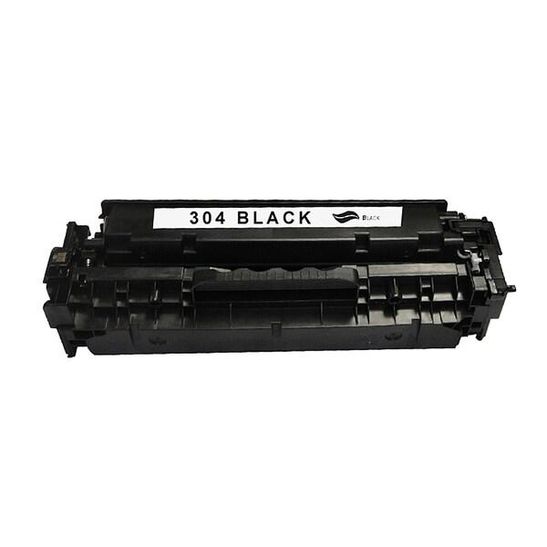 HP 304A Black CompatibleToner Cartridge for Hewlett Packard CC530A (Remanufactured)