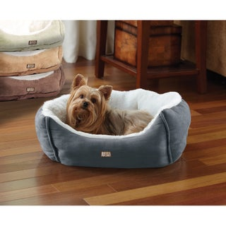 Animal Planet Blue Microsuede Pet Bed