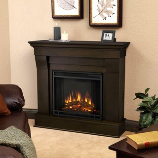 "Dark Walnut Chateau Electric Fireplace by Real Flame - 37.6""h x 40.94""l x 11.81""d"