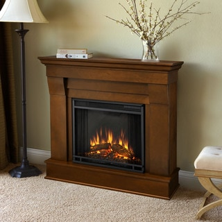 Real Flame Espresso Chateau 40.94 in. L x 11.81 in. D x 37.6 in. H Electric Fireplace