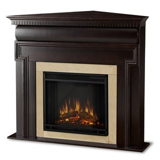Real Flame Mt. Vernon Dark Walnut Electric Corner Fireplace