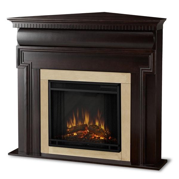 Real Flame Mt. Vernon Dark Walnut Electric Corner Fireplace