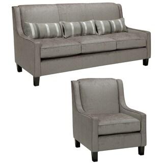 Ramone Silver Sofa and Chair