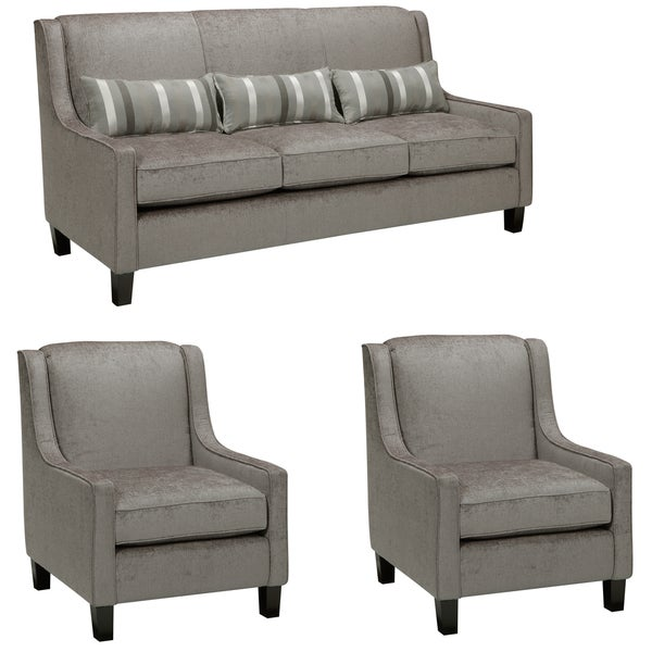 Ramone Silver Sofa and Two Chairs