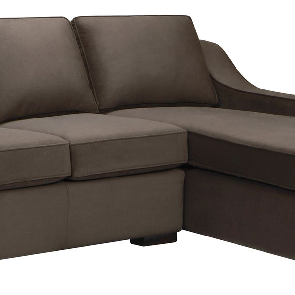 Nice Presley Dark Brown Sectional Sofa   Free Shipping Today   Overstock.com    14955528