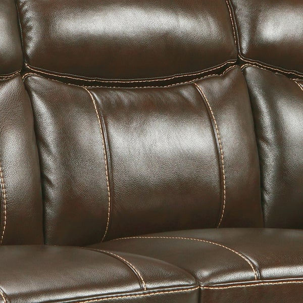 Storm Walnut Brown Italian Leather Sofa And Loveseat   Free Shipping Today    Overstock.com   14955531