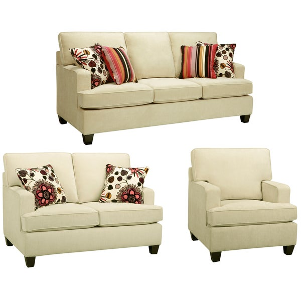 Austin Cream Sofa, Loveseat and Chair