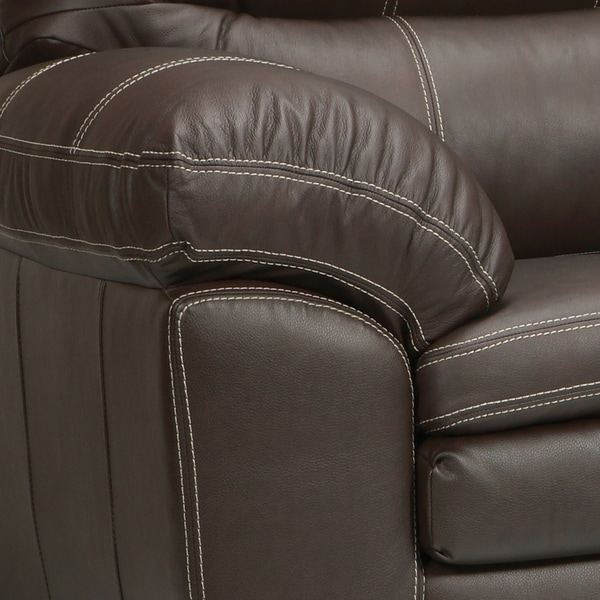Hawkins Java Brown Italian Leather Sofa And Loveseat   Free Shipping Today    Overstock.com   14955547