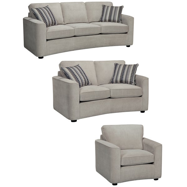 Marley Light Gray Sofa, Loveseat and Chair