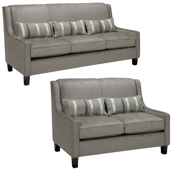 Ramone Silver Sofa and Loveseat