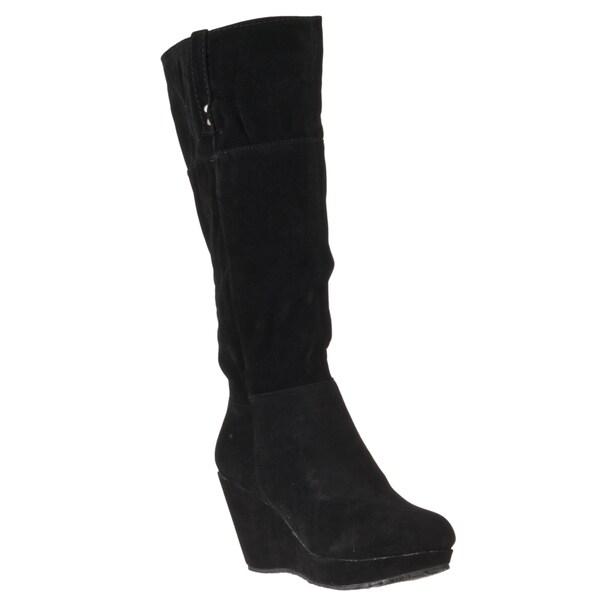 Riverberry Women's 'Hush' Black Knee-high Boots