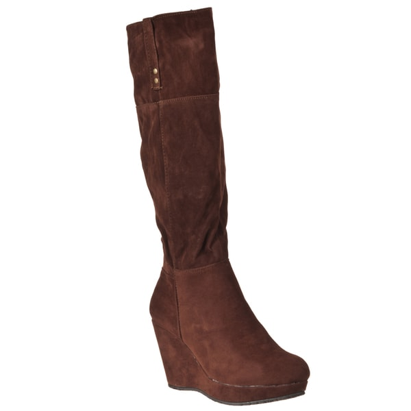Riverberry Women's 'Hush' Tobacco Knee-high Boots