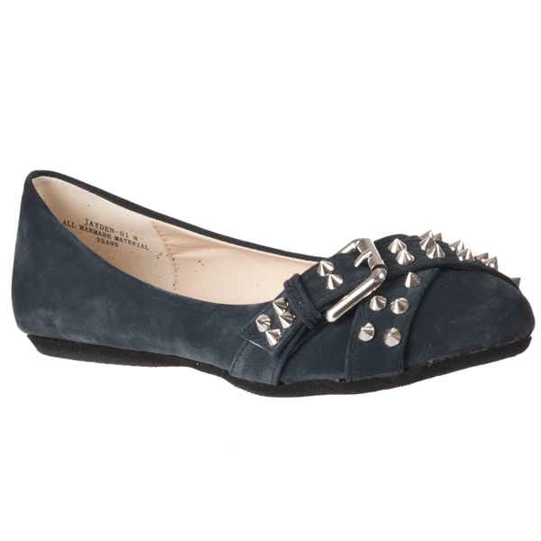 Riverberry Women's 'Jayden' Navy Studded Flats
