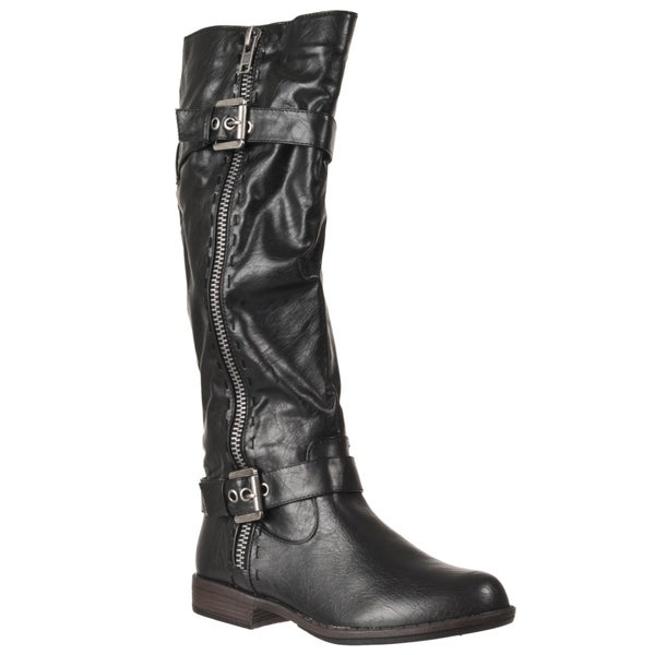 Riverberry Women's 'Montage' Black Zipper-detail Boots