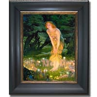 Edward Hughes 'Midsummer Eve' Framed Canvas Art - Multi