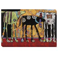 Jenny Foster 'Looking For Trouble' Canvas Art