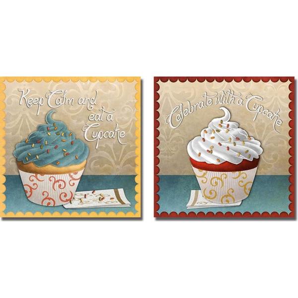 Sd Graphics 'Cupcake I and II' 2-piece Canvas Art Set