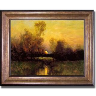 Dennis Sheehan 'Summer Moonrise' Framed Canvas