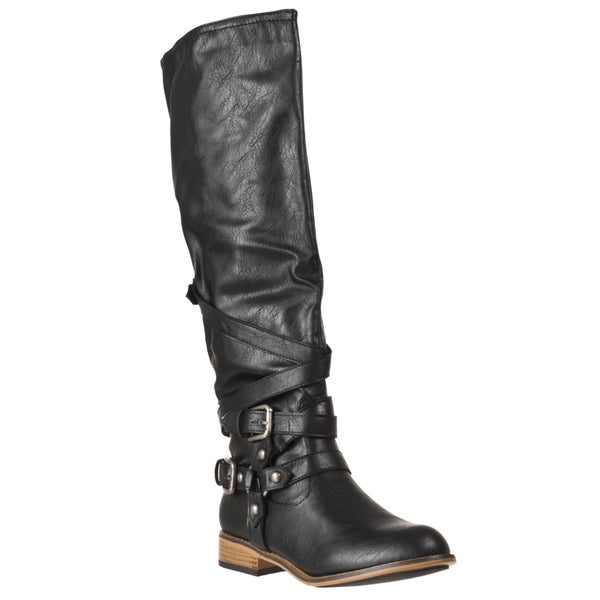 Bamboo by Riverberry Women's 'Parksville' Black Boots