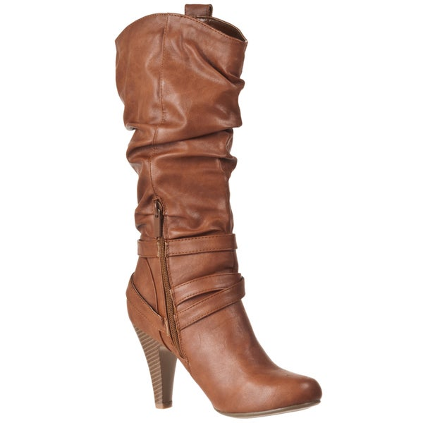 Riverberry Women's 'Valencia' Chestnut Slouch Boots