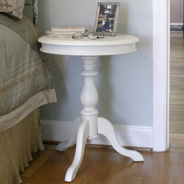 Megan Antique Ivory Accent Table